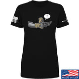 Kit Badger Ladies Grey Death Adder T-Shirt T-Shirts SMALL / Black by Ballistic Ink - Made in America USA