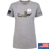 Kit Badger Ladies Grey Death Adder T-Shirt T-Shirts SMALL / Light Grey by Ballistic Ink - Made in America USA