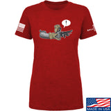 Kit Badger Ladies Grey Death Adder T-Shirt T-Shirts SMALL / Red by Ballistic Ink - Made in America USA