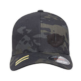 Kit Badger Kit Badger Logo Flexfit® Multicam® Trucker Cap Headwear Black Multicam S/M by Ballistic Ink - Made in America USA