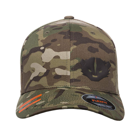 Kit Badger Kit Badger Logo Flexfit® Multicam® Trucker Cap Headwear Multicam S/M by Ballistic Ink - Made in America USA