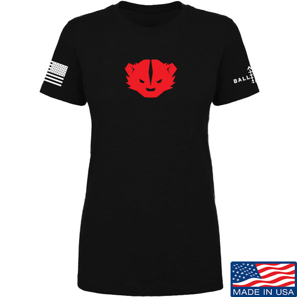 Kit Badger Ladies Kit Badger LogoT-Shirt T-Shirts SMALL / Black by Ballistic Ink - Made in America USA