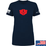 Kit Badger Ladies Kit Badger LogoT-Shirt T-Shirts SMALL / Navy by Ballistic Ink - Made in America USA