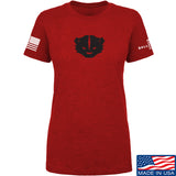 Kit Badger Ladies Kit Badger LogoT-Shirt T-Shirts SMALL / Red by Ballistic Ink - Made in America USA