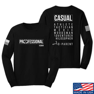 Kit Badger Professional Human v1.0 - Rad Parent Long Sleeve T-Shirt Long Sleeve Small / Navy by Ballistic Ink - Made in America USA