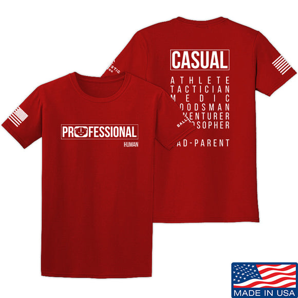 Kit Badger Professional Human v1.0 - Rad Parent T-Shirt T-Shirts Small / Red by Ballistic Ink - Made in America USA