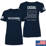 Kit Badger Ladies Professional Human v1.0 - Rad Parent T-Shirt T-Shirts SMALL / Navy by Ballistic Ink - Made in America USA