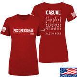 Kit Badger Ladies Professional Human v1.0 - Rad Parent T-Shirt T-Shirts SMALL / Red by Ballistic Ink - Made in America USA