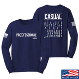 Kit Badger Professional Human v2.0 Long Sleeve T-Shirt Long Sleeve Small / Navy by Ballistic Ink - Made in America USA