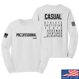Kit Badger Professional Human v2.0 Long Sleeve T-Shirt Long Sleeve Small / White by Ballistic Ink - Made in America USA