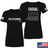 Kit Badger Ladies Professional Human v2.0 T-Shirt T-Shirts SMALL / Black by Ballistic Ink - Made in America USA