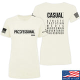 Kit Badger Ladies Professional Human v2.0 T-Shirt T-Shirts SMALL / Cream by Ballistic Ink - Made in America USA