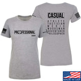 Kit Badger Ladies Professional Human v2.0 T-Shirt T-Shirts SMALL / Light Grey by Ballistic Ink - Made in America USA
