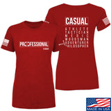 Kit Badger Ladies Professional Human v2.0 T-Shirt T-Shirts SMALL / Red by Ballistic Ink - Made in America USA