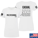 Kit Badger Ladies Professional Human v2.0 T-Shirt T-Shirts SMALL / White by Ballistic Ink - Made in America USA