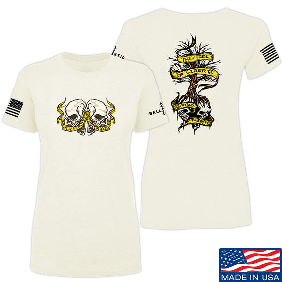 Kit Badger Ladies Tyrants & Patriots T-Shirt T-Shirts SMALL / Cream by Ballistic Ink - Made in America USA