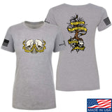 Kit Badger Ladies Tyrants & Patriots T-Shirt T-Shirts SMALL / Light Grey by Ballistic Ink - Made in America USA
