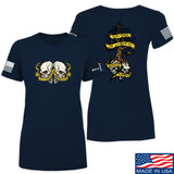 Kit Badger Ladies Tyrants & Patriots T-Shirt T-Shirts SMALL / Navy by Ballistic Ink - Made in America USA