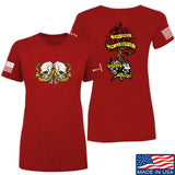 Kit Badger Ladies Tyrants & Patriots T-Shirt T-Shirts SMALL / Red by Ballistic Ink - Made in America USA