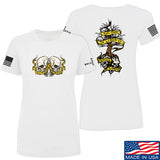 Kit Badger Ladies Tyrants & Patriots T-Shirt T-Shirts SMALL / White by Ballistic Ink - Made in America USA