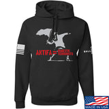 MAC Antifa Equals Domestic Terrorists Hoodie Hoodies Small / Black by Ballistic Ink - Made in America USA