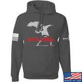 MAC Antifa Equals Domestic Terrorists Hoodie Hoodies Small / Charcoal by Ballistic Ink - Made in America USA