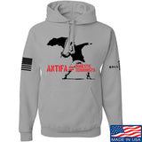 MAC Antifa Equals Domestic Terrorists Hoodie Hoodies Small / Light Grey by Ballistic Ink - Made in America USA