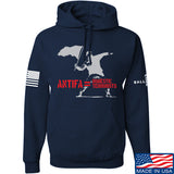 MAC Antifa Equals Domestic Terrorists Hoodie Hoodies Small / Navy by Ballistic Ink - Made in America USA