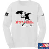 MAC Antifa Equals Domestic Terrorists Long Sleeve T-Shirt Long Sleeve Small / White by Ballistic Ink - Made in America USA