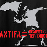 MAC Antifa Equals Domestic Terrorists Long Sleeve T-Shirt Long Sleeve [variant_title] by Ballistic Ink - Made in America USA