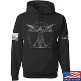 MAC Armed Vitruvian Man Hoodie Hoodies Small / Black by Ballistic Ink - Made in America USA