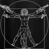 MAC Armed Vitruvian Man Long Sleeve T-Shirt Long Sleeve [variant_title] by Ballistic Ink - Made in America USA