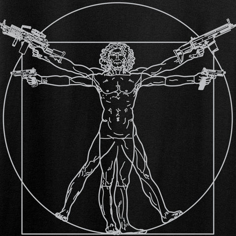 MAC Armed Vitruvian Man T-Shirt T-Shirts [variant_title] by Ballistic Ink - Made in America USA