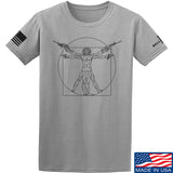 MAC Armed Vitruvian Man T-Shirt T-Shirts Small / Light Gray by Ballistic Ink - Made in America USA