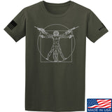 MAC Armed Vitruvian Man T-Shirt T-Shirts Small / Military Green by Ballistic Ink - Made in America USA
