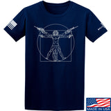MAC Armed Vitruvian Man T-Shirt T-Shirts Small / Navy by Ballistic Ink - Made in America USA