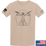 MAC Armed Vitruvian Man T-Shirt T-Shirts Small / Sand by Ballistic Ink - Made in America USA