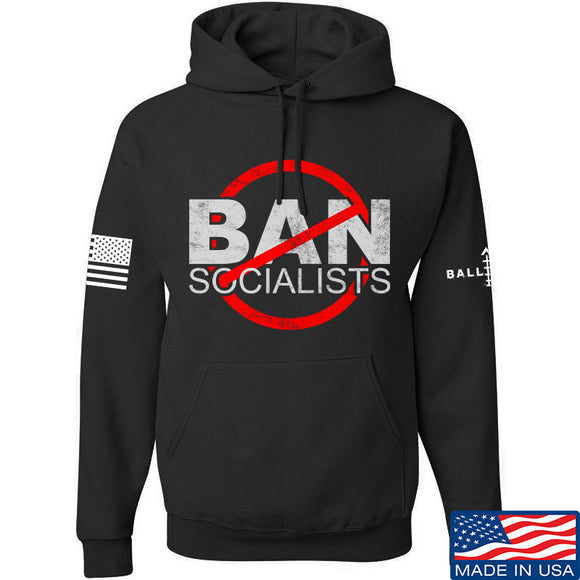 MAC Ban Socialists Hoodie Hoodies Small / Black by Ballistic Ink - Made in America USA