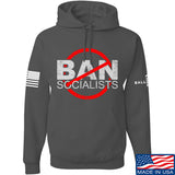 MAC Ban Socialists Hoodie Hoodies Small / Charcoal by Ballistic Ink - Made in America USA