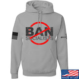 MAC Ban Socialists Hoodie Hoodies Small / Light Grey by Ballistic Ink - Made in America USA