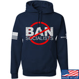 MAC Ban Socialists Hoodie Hoodies Small / Navy by Ballistic Ink - Made in America USA