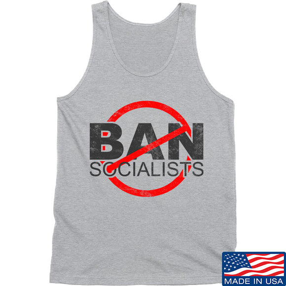 MAC Ban Socialists Tank Tanks SMALL / Light Grey by Ballistic Ink - Made in America USA