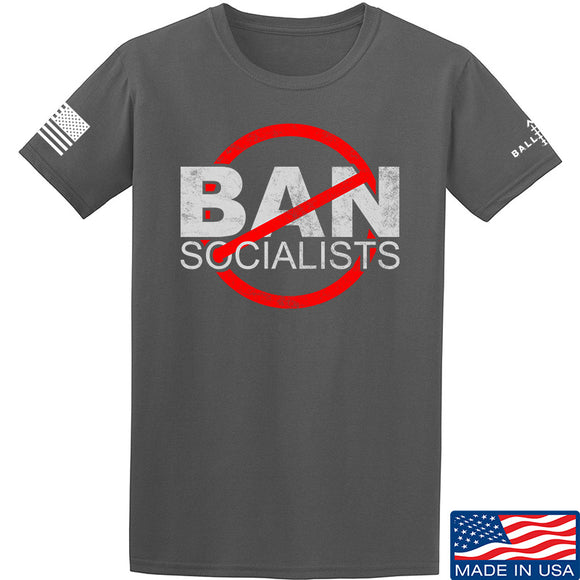 MAC Ban Socialists T-Shirt T-Shirts Small / Charcoal by Ballistic Ink - Made in America USA