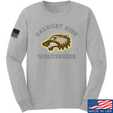 MAC Calumet High Wolverines Long Sleeve T-Shirt Long Sleeve Small / Light Grey by Ballistic Ink - Made in America USA