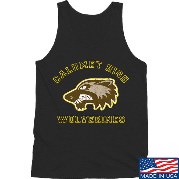 MAC Calumet High Wolverines Tank Tanks SMALL / Black by Ballistic Ink - Made in America USA