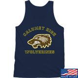 MAC Calumet High Wolverines Tank Tanks SMALL / Navy by Ballistic Ink - Made in America USA