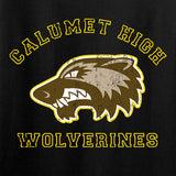 MAC Ladies Calumet High Wolverines V-Neck T-Shirts, V-Neck [variant_title] by Ballistic Ink - Made in America USA