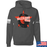 MAC Communists Suck Hoodie Hoodies Small / Charcoal by Ballistic Ink - Made in America USA