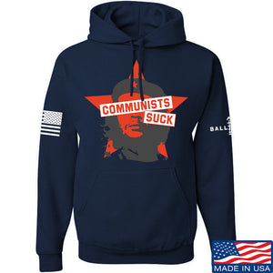 MAC Communists Suck Hoodie Hoodies Small / Light Grey by Ballistic Ink - Made in America USA