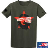 MAC Communists Suck T-Shirt T-Shirts Small / Military Green by Ballistic Ink - Made in America USA